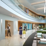 717112 Digital Photorealistic Architectural Renderings of Horizon West Corridor for Hunton Brady Architects