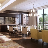 717132 Digital Photorealistic Architectural Rendering of Park Ridge Bistro for Senior Lifestyle Corporation