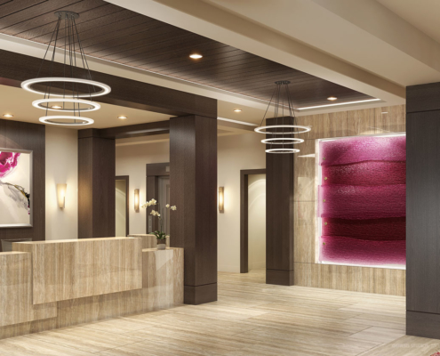 717132 Digital Photorealistic Architectural Rendering of Park Ridge Lobby for Senior Lifestyle Corporation