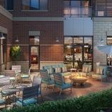 818132 Digital Photorealistic Architectural Rendering of Park Ridge Patio for Senior Lifestyle Corporation