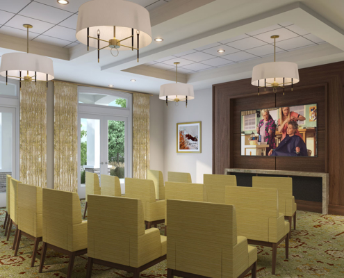 717133 Digital Photorealistic Architectural Renderings of Snellville Multi Purpose Room for Senior Lifestyle Corporation