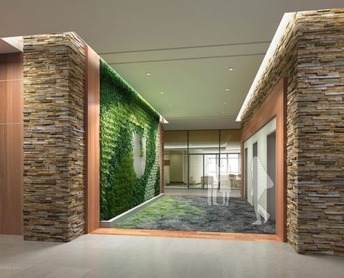 717162 Digital Photorealistic Architectural Rendering of MOB Office Interior for J Davis Interiors