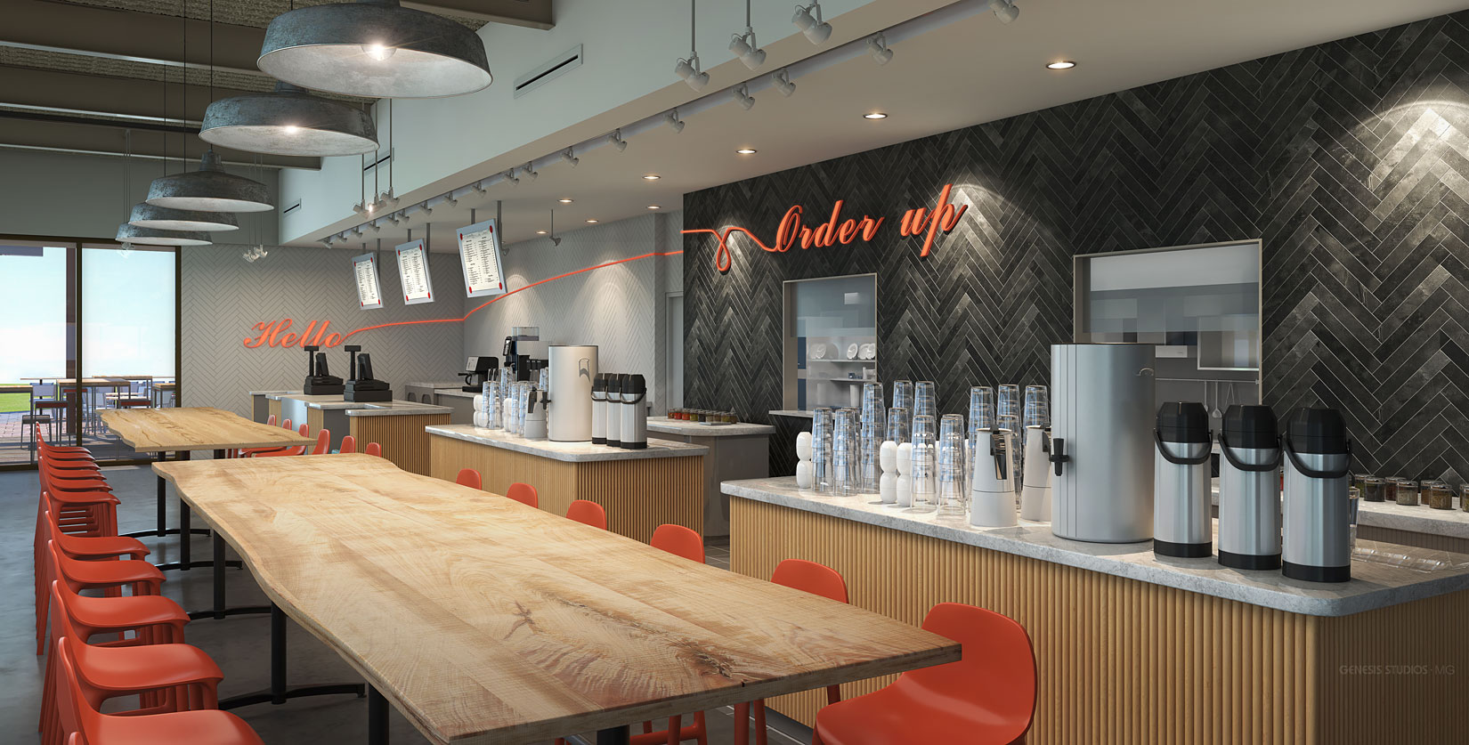 717174 Digital Photorealistic Architectural Renderings of Bonapitit Coffee Bar for Shea Design