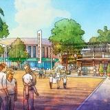 717179- Digital Watercolor Architectural Rendering of Cocoa Beach Hotel and Condo Theatre for AECOM