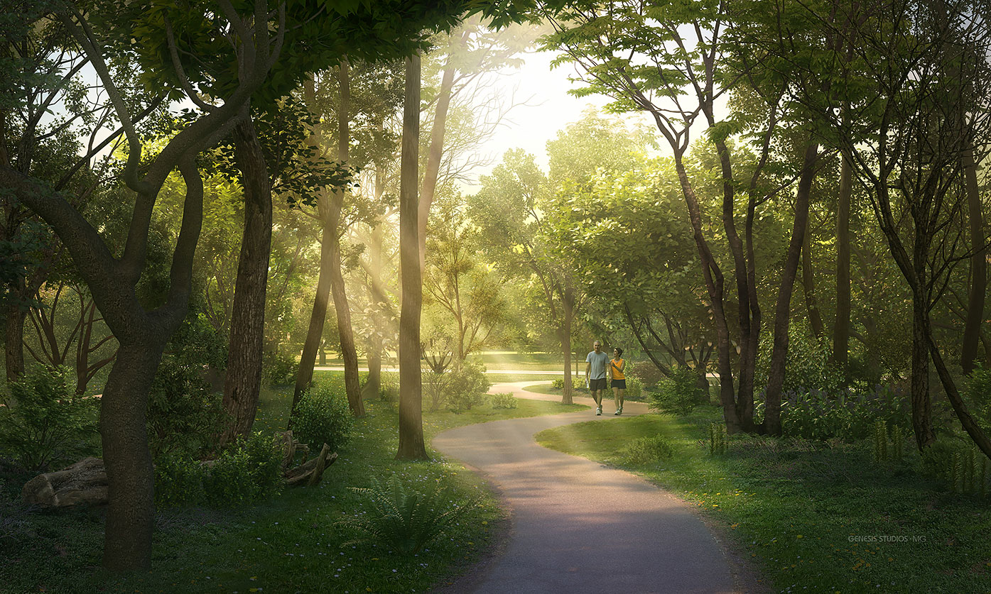 717181 Digital Photorealistic Architectural Rendering of Laviance Trail for Verlander