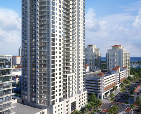 717186 Digital Photorealistic Architectural Renderings of Halcyon for Curt Gaines Hall Jones Architects