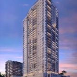 717186 Digital Photorealistic Architectural Renderings of Halcyon at Dusk for Curt Gaines Hall Jones Architects