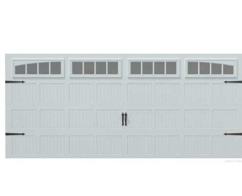 Digital Photorealistic Architectural Rendering of Garage Door for CHI Overhead Doors