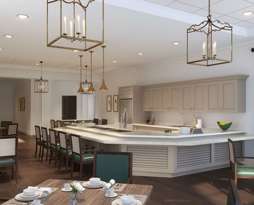 818015- Digital Photorealistic Architectural Rendering of Hobe Sound Dining for Senior Lifestyle Corporation