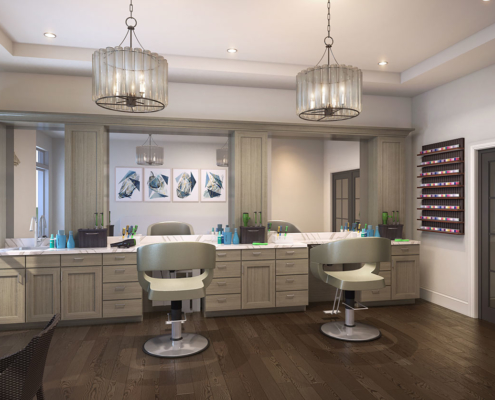 818015- Digital Photorealistic Architectural Rendering of Hobe Sound Hair Salon for Senior Lifestyle Corporation