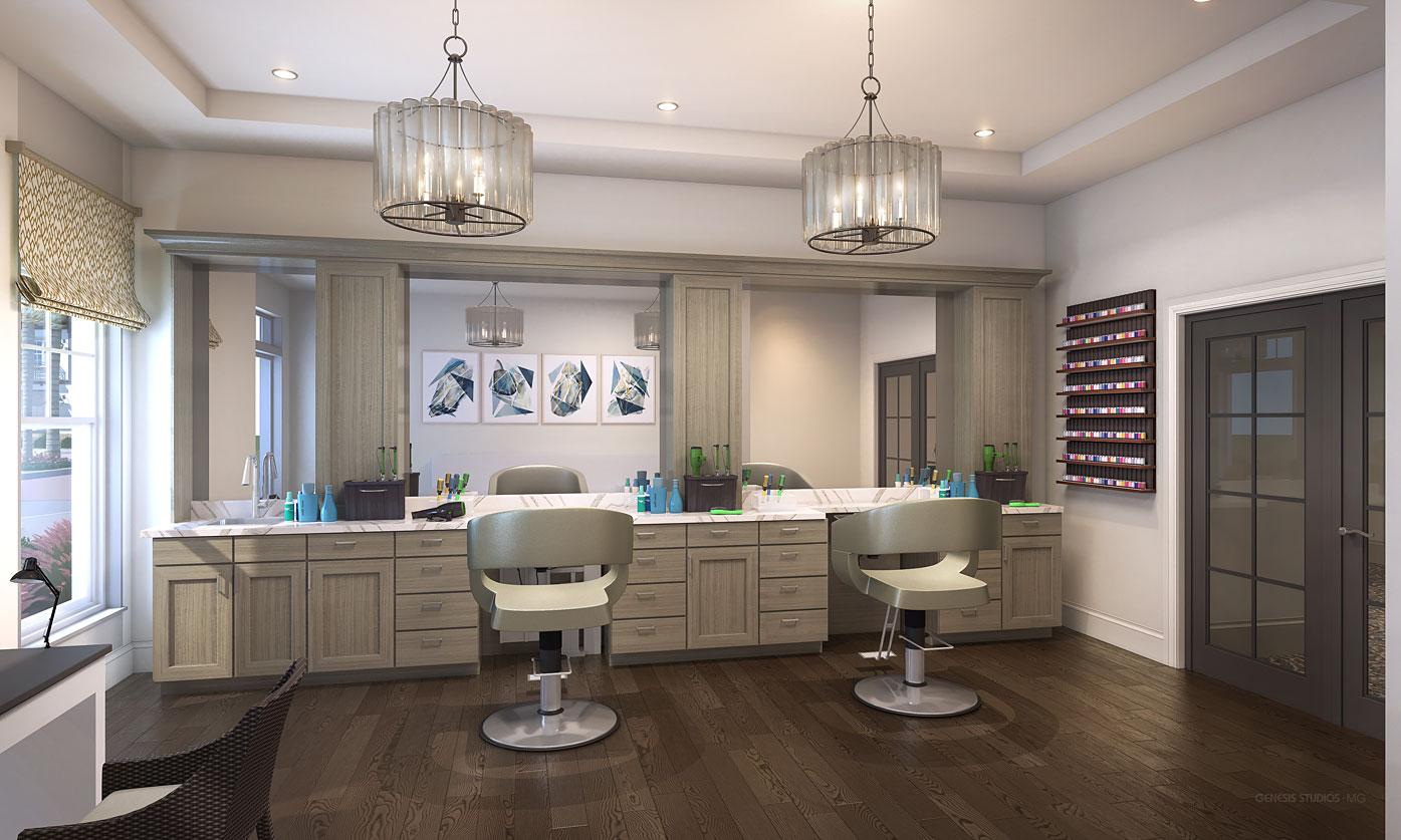 818015- Digital Photorealistic Architectural Rendering of Hobe Sound Hair Salon for Senior Lifestyle Corporation