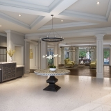 818015 Digital Photorealistic Architectural Rendering of Hobe Sound Lobby for Senior Lifestyle Corporation