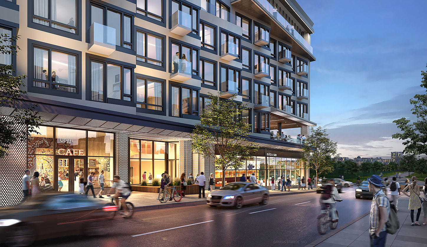 818016 Digital Photorealistic Architectural Renderings of 56 North 9th Street at Dusk for Zoning and Code Consulting Group
