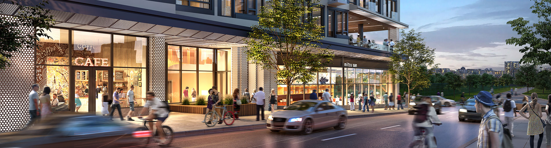 818016- Digital Photorealistic Architectural Renderings of Storm Living Exterior at Dusk for Zoning and Code Consulting Group