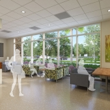 818065 Digital Photorealistic Architectural Renderings of Baptist Health Outpatient Surgery Center Lobby for Hunton Brady Architects