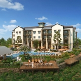 818082 Digital Photorealistic Architectural Renderings of The Lodge at Hamlin Pool for Charlan Brock Associates