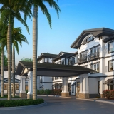 818097 Digital Photorealistic Architectural Rendering of Hobe Sound Entrance for Senior Lifestyle Corporation