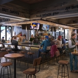 818119 Digital Photorealistic Architectural Rendering of River Bear Bar Interior for Kimberly Timmons Interiors