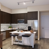 3D Architectural Renderings of a Multi Family Housing Kitchen on 6600 Main for Graham Homes