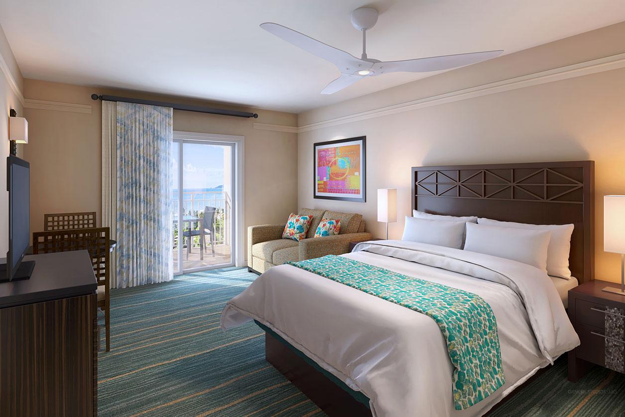 818162- Digital Photorealistic Architectural Rendering of Aruba Surf Bedroom for Neimann Interiors818162