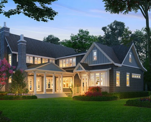 616161 Digital Photorealistic Architectural Renderings of Villa B for The Grove