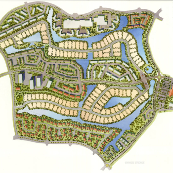 Watercolor Site Plan of Weston for Jefre
