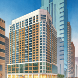 111076 Watercolor Architectural Rendering of Market Street for Cope Linder Architects