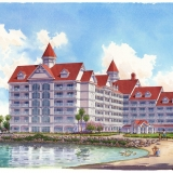 111086 Watercolor Architectural Rendering of Disney Grand Floridian for Atkins