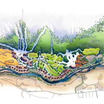 15266 Site Plan Architectural Rendering of South Peak Resort at Loon Mountain for Centex