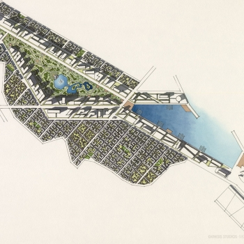 212001 Watercolor Architectural Site Plan of Nha Trang Park for TVSA