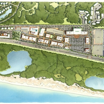 313128 Watercolor Site Plan of Grand Boulevard for Howard Group