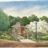 515061 Watercolor Architectural Rendering of The Villa at Springdale Garden for Smith Planning Group