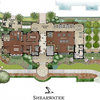 616024 Watercolor Site Plan of Shearwater Clubhouse for Freehold Capital Services