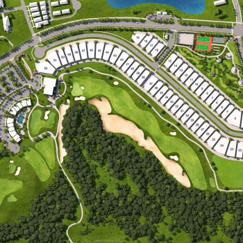 616134 Digital Photorealistic Site Plan of Ginn Bear's Den Club for Citicommunities