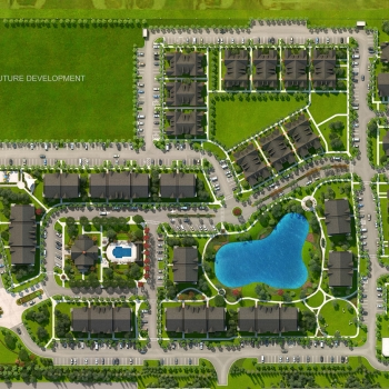 616185 Digital Photorealistic Site Plan of Westbrook for Greenview Properties