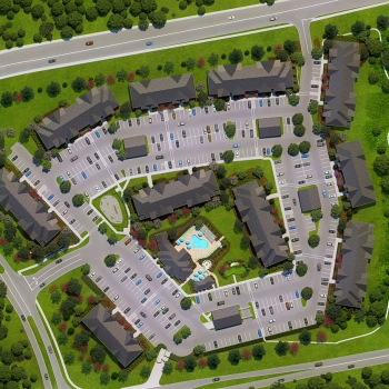 717003 Digital Photorealistic Site Plan of Ridge at Perry Bend for Riverview Management