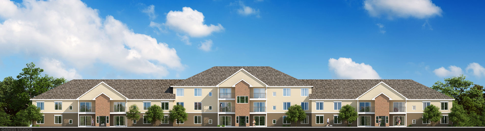 717028 Digital Photorealistic Architectural Rendering of an Elevation for MRD Architectural Resources