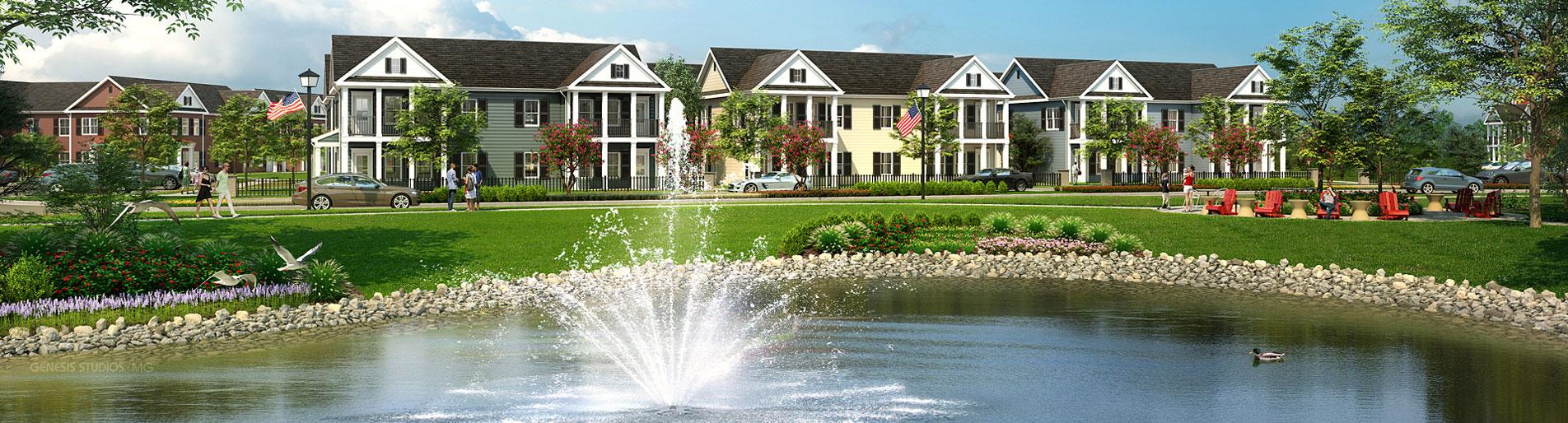 717076 Digital Photorealistic Architectural Renderings of Westbrook Exterior for Greenview Properties