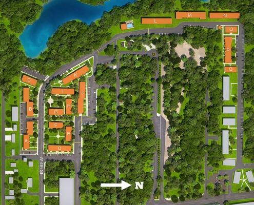 717078 Digital Photorealistic Site Plan of Waters Edge for Greenview Properties