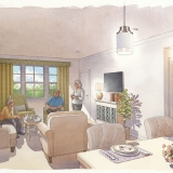 717206 Watercolor Architectural Rendering of The Grand Suite for Civitas Architects