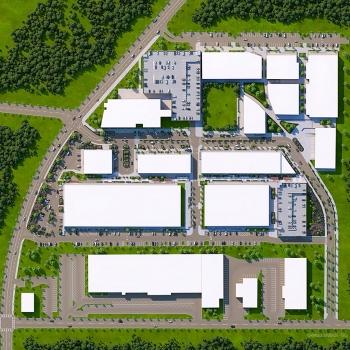 818235 Digital Photorealistic Site Plan of Selig Enterprises for Blake Tannery Ad Agency