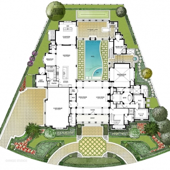 818023 Watercolor Site Plan of Four Seasons Private Residences Lot 24 for Clayton Jones