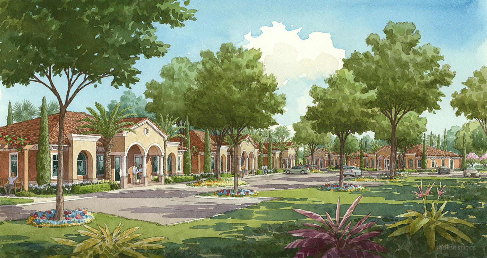 Watercolor Architectural Rendering of Windermere Exterior