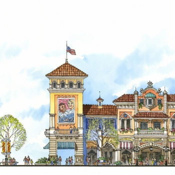 Hand Illustrated Rendering of of an Architectural Elevation for Veranda Partners