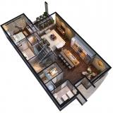 212086 3-Dimensional Cutaway Floor Plan of Magic Village for Forum Architects