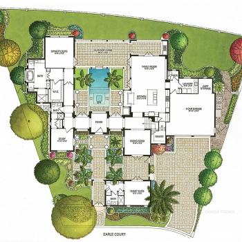515088 Watercolor Floor Plan of Four Seasons Private Residences Lot 42 for Clayton Jones