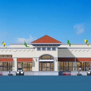Digitally Rendered Elevation of The Harbor Restaurant for Jim Rosenberg