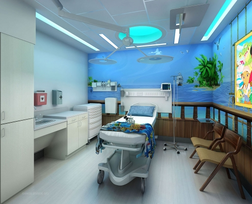 Digital Renderings of Advent Healthcare Patient Room for Hunton Brady Architects