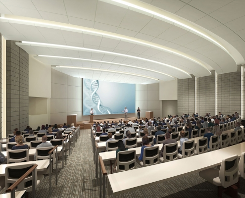 3D Architectural Renderings of Lakeland Regional Medical Center Healthcare Pavilion for Women and Children Auditorium
