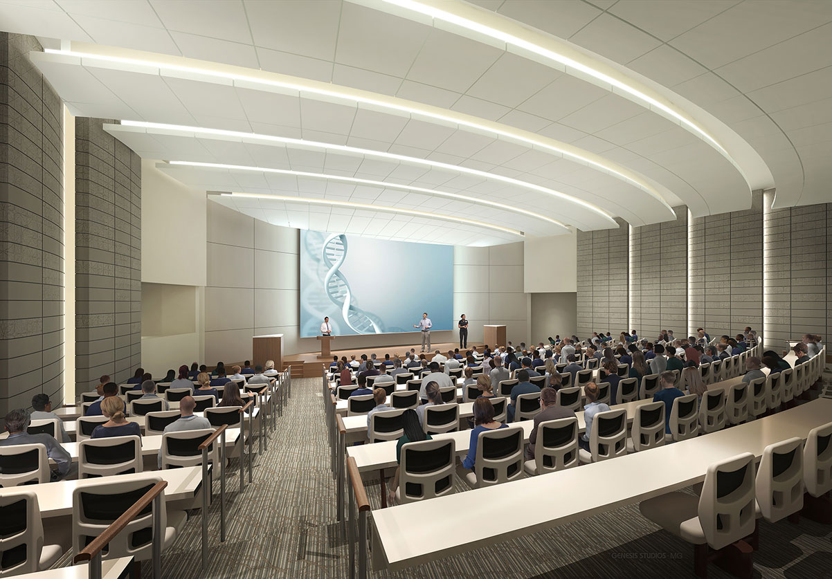 3D Architectural Renderings of Lakeland Regional Medical Center Healthcare Pavilion for Women and Children Auditorium